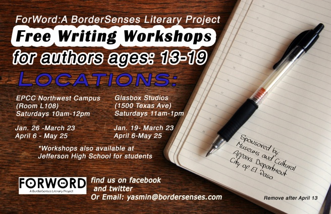 FREE writing workshops for el paso-area teens!